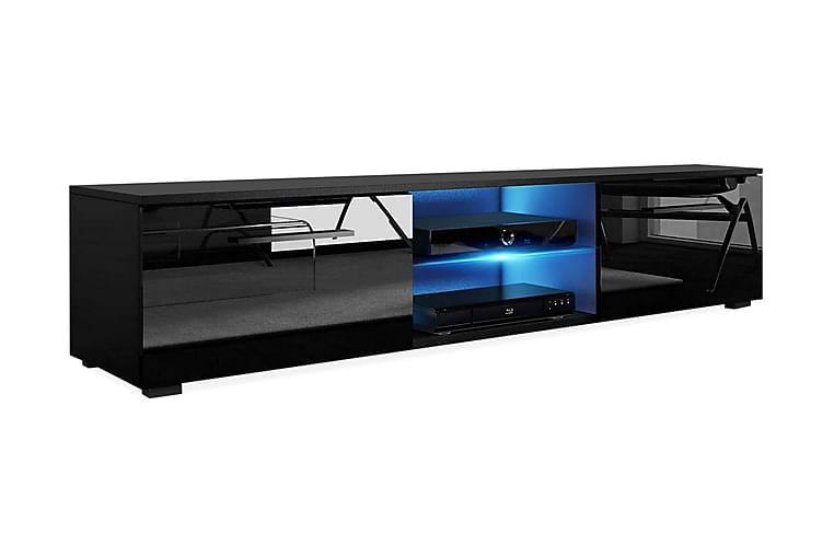 TV-taso Terisa 140 cm LED-valaistus - Musta - Huonekalut - TV- & Mediakalusteet - Tv-tasot & Mediatasot