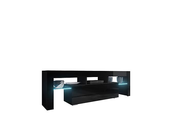 TV-taso Toro 138x40x41 cm - Musta - Huonekalut - TV- & Mediakalusteet - Tv-tasot & Mediatasot