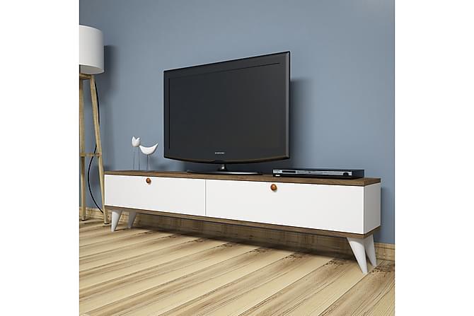 TV-taso Tyrsberget 160 cm - Valkoinen/Ruskea - Huonekalut - TV- & Mediakalusteet - Tv-tasot & Mediatasot