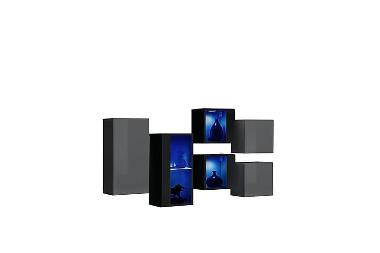 Tv-taso Vidara 120 cm - Harmaa/Musta - Huonekalut - TV- & Mediakalusteet - Tv-tasot & Mediatasot