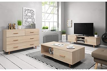 Olohuonepaketti TV-taso+Senkki+Sohvapöytä Nelda
