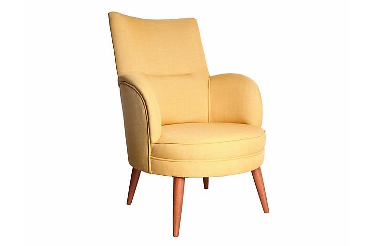 Nojatuoli Mccalib Käsinojilla - Keltainen - Huonekalut - Nojatuolit & rahit - Nojatuolit & lepotuolit