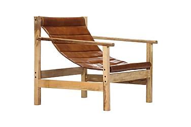 Nojatuoli ruskea aito nahka