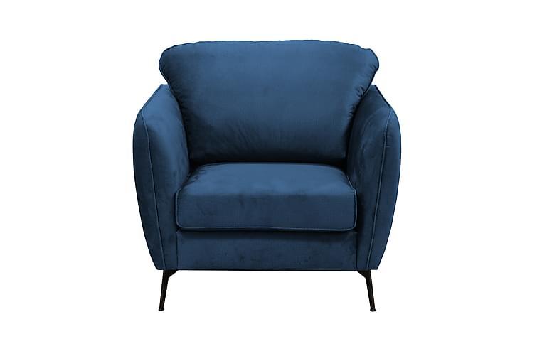 Nojatuoli Vannvik - Sininen - Huonekalut - Nojatuolit & rahit - Nojatuolit & lepotuolit