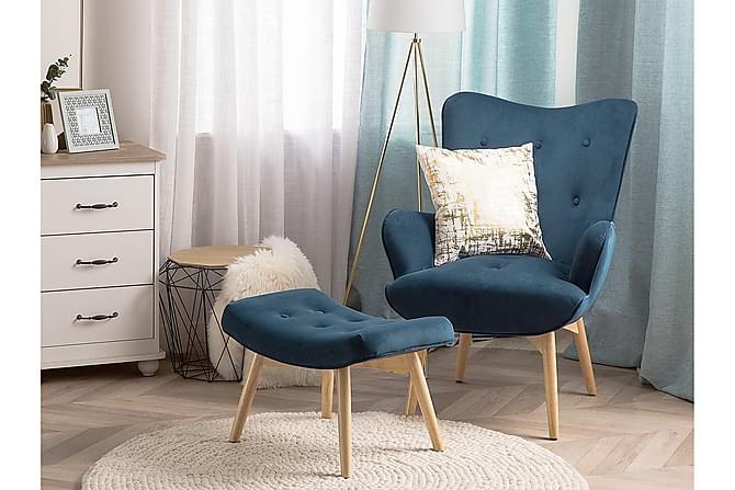 Nojatuoli Vejle - Sininen - Huonekalut - Nojatuolit & rahit - Nojatuolit & lepotuolit