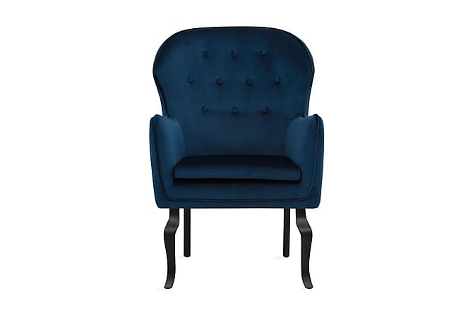 Samettinojatuoli Holte - Sininen - Huonekalut - Nojatuolit & rahit - Nojatuolit & lepotuolit