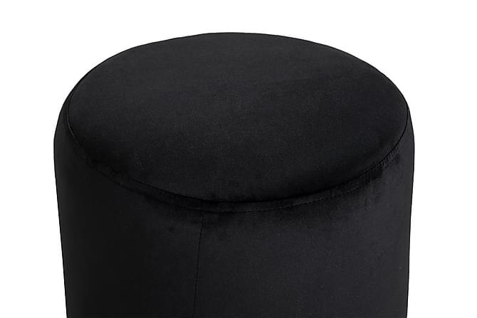 Istuinrahi Donella 40 cm Sametti - Musta - Huonekalut - Nojatuolit & rahit - Rahit