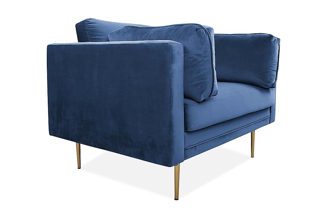 Samettinojatuoli Arianos - Sininen - Huonekalut - Nojatuolit & rahit - Samettinojatuoli
