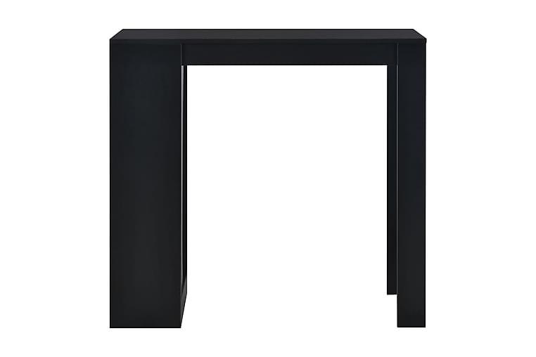 Baaripöytä hyllyllä musta 110x50x103 cm - Musta - Huonekalut - Pöydät - Baaripöydät & seisomapöydät