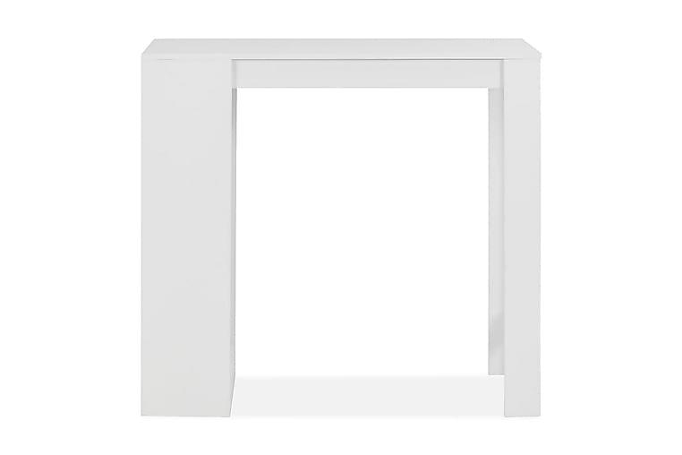 Baaripöytä hyllyllä valkoinen 110x50x103 cm - Valkoinen - Huonekalut - Pöydät - Baaripöydät & seisomapöydät
