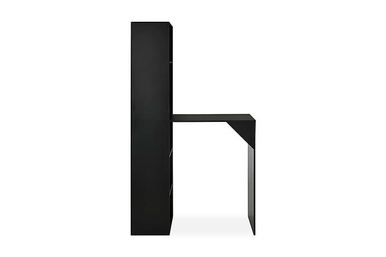 Baaripöytä kaapilla musta 115x59x200 cm - Musta - Huonekalut - Pöydät - Baaripöydät & seisomapöydät