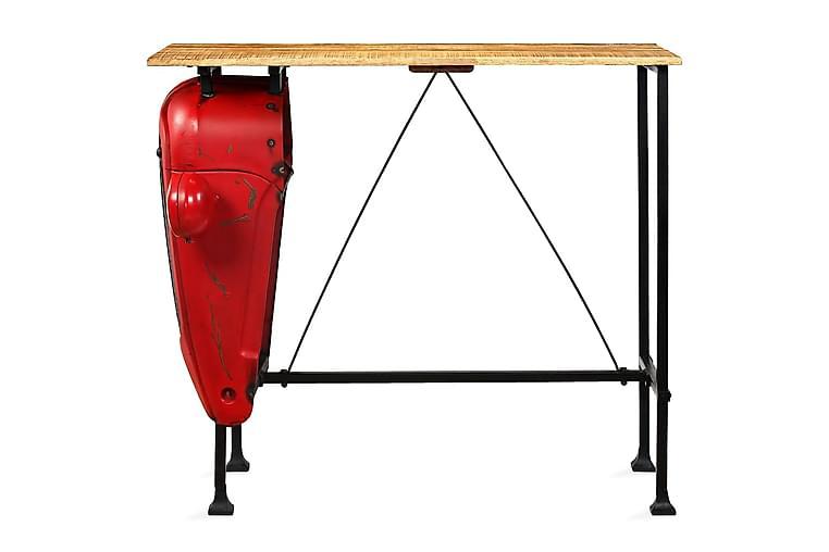 Korkea traktoripöytä mangopuu 60x120x107 cm punainen - Punainen - Huonekalut - Pöydät - Baaripöydät & seisomapöydät