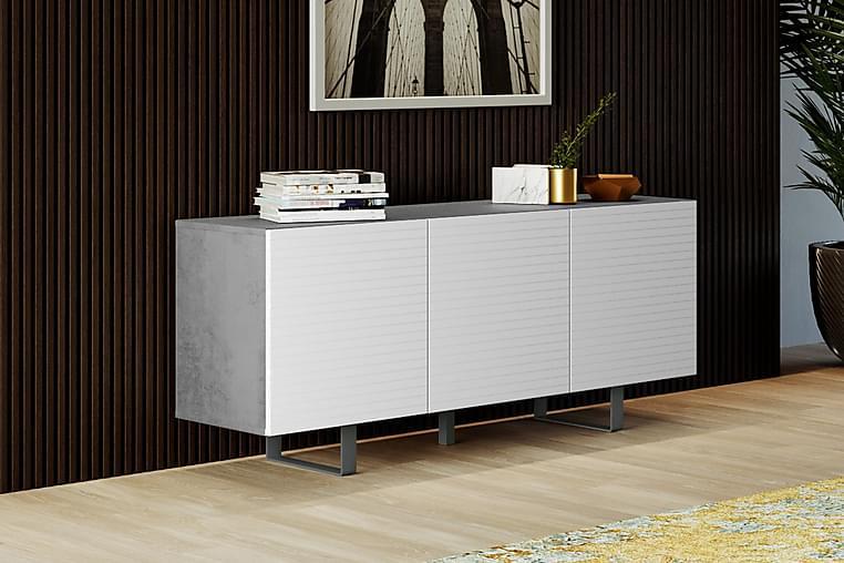 Apupöytä Eldvalla 45 cm - Betoni/Valkoinen - Huonekalut - Pöydät - Eteisen pöydät & apupöydät