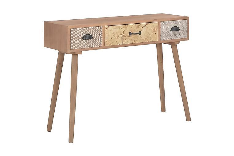 Konsolipöytä 3 laatikolla 100x30x73 cm mänty - Ruskea - Huonekalut - Pöydät - Eteisen pöydät & apupöydät