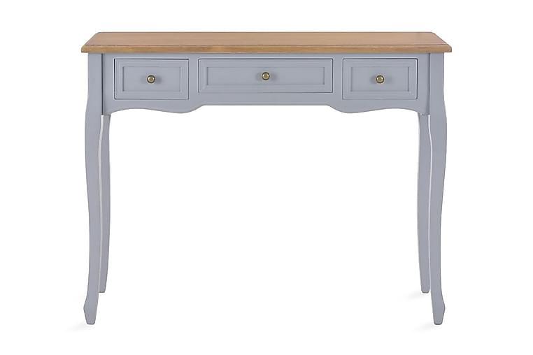 Meikkipöytä 3 laatikkoa harmaa - Harmaa - Huonekalut - Pöydät - Eteisen pöydät & apupöydät