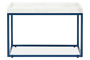 LUGO Sivupöytä 60 Valkoinen/sininen