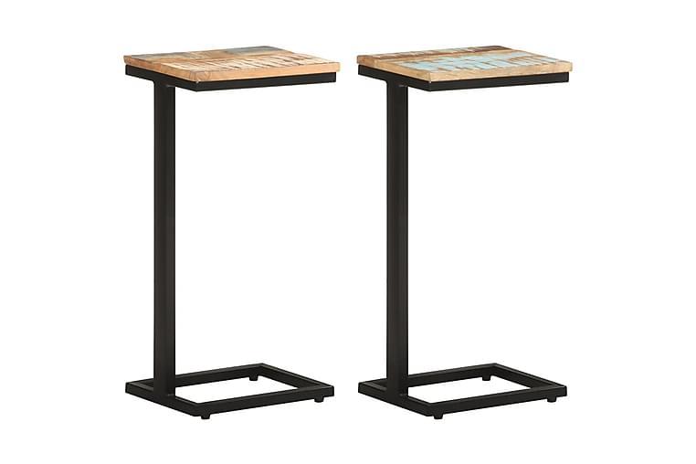 Sivupöydät 2 kpl 31,5x24,5x64,5 cm kierrätetty täyspuu - Sisustustuotteet - Pienet kalusteet - Tarjotinpöydät & pienet pöydät