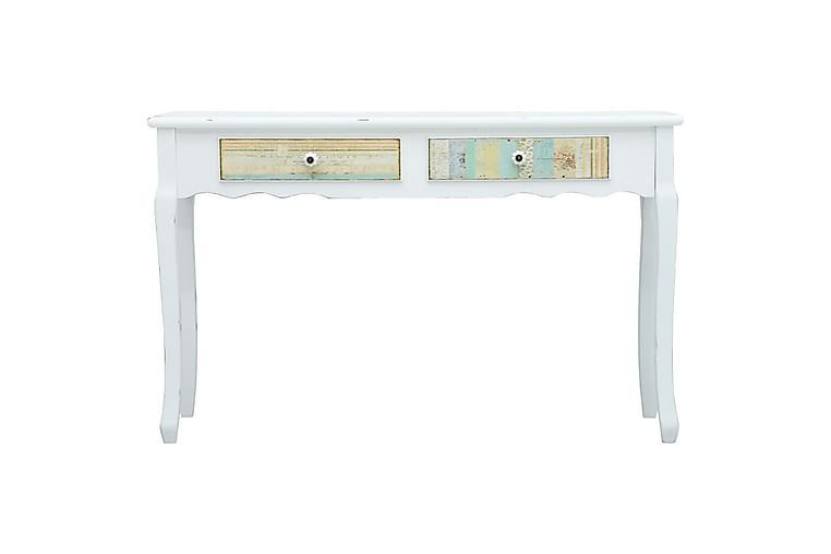 Sivupöytä valkoinen 120x40x74,5 cm puu - Valkoinen - Sisustustuotteet - Pienet kalusteet - Tarjotinpöydät & pienet pöydät