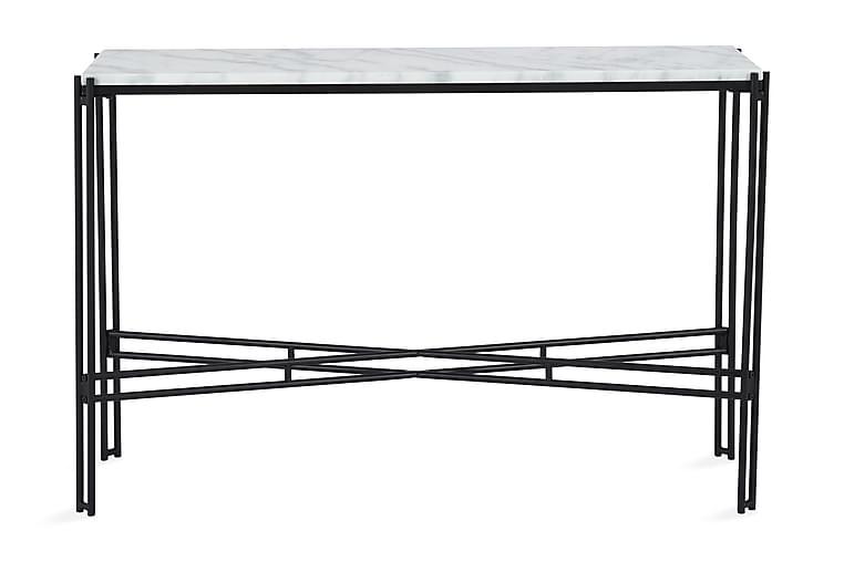 Apupöytä Sisko 100 cm Marmori - Musta/Valkoinen - Huonekalut - Pöydät - Eteisen pöydät & apupöydät