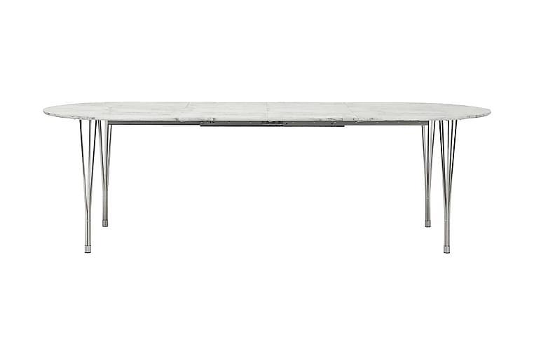 Pöytä Sterling Jatkettava 160 cm Ovaali - Marmori/Kromi - Huonekalut - Pöydät - Ruokapöydät & keittiön pöydät