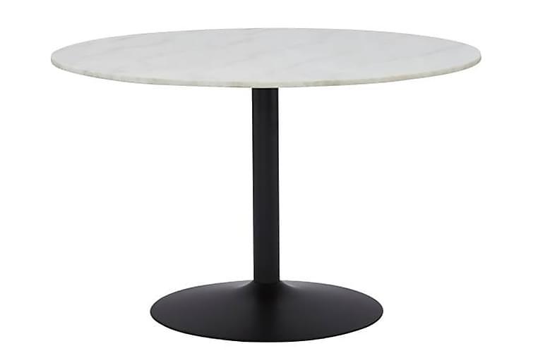Ruokapöytä Justine 100 cm Pyöreä Marmori - Musta/Valkoinen - Huonekalut - Pöydät - Ruokapöydät & keittiön pöydät