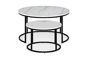 Sarjapöytä Titania 80 cm/50 cm Pyöreä Marmori