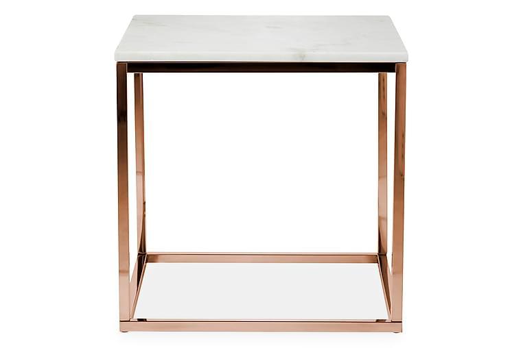 Sivupöytä Titania 45 cm Marmori - Valkoinen/Kupari - Sisustustuotteet - Pienet kalusteet - Tarjotinpöydät & pienet pöydät