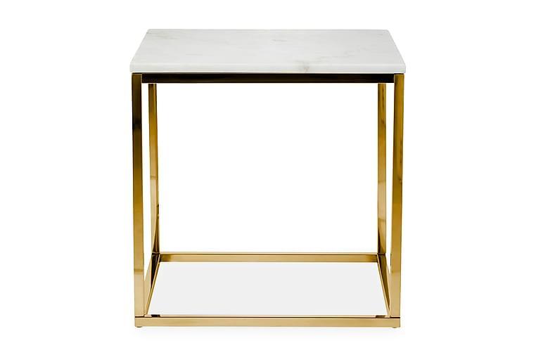Sivupöytä Titania 45 cm Marmori - Valkoinen/Messinki - Sisustustuotteet - Pienet kalusteet - Tarjotinpöydät & pienet pöydät