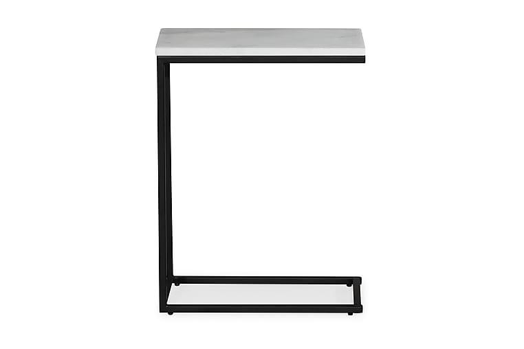 Sivupöytä Titania 45 cm Marmori - Valkoinen/Musta - Sisustustuotteet - Pienet kalusteet - Tarjotinpöydät & pienet pöydät