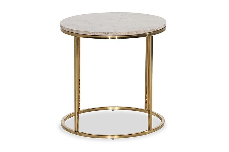 Sivupöytä Titania 50 cm Pyöreä Marmori - Beige - Sisustustuotteet - Pienet kalusteet - Tarjotinpöydät & pienet pöydät