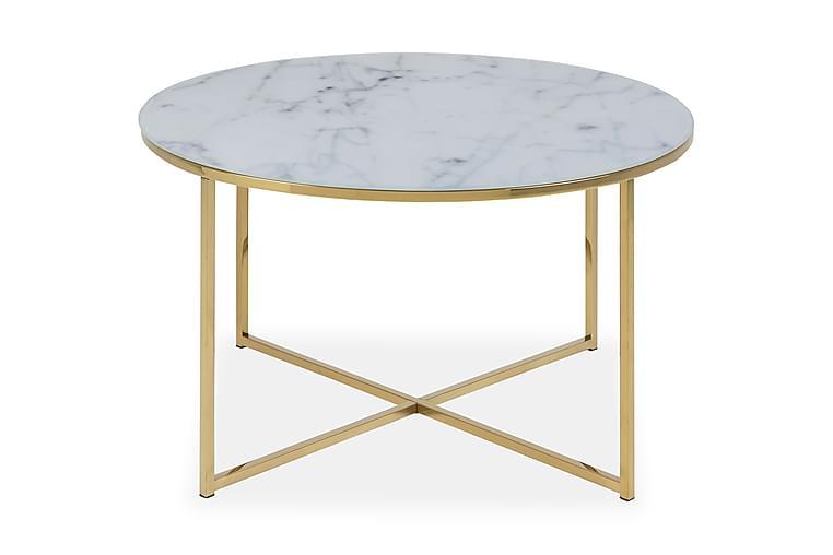Sohvapöytä Alisma 80 cm - Valkoinen Marmori - Huonekalut - Pöydät - Sohvapöydät
