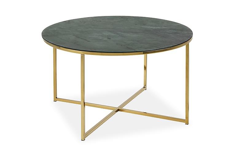 Sohvapöytä Alisma 80 cm - vihreä Marmori - Huonekalut - Pöydät - Sohvapöydät