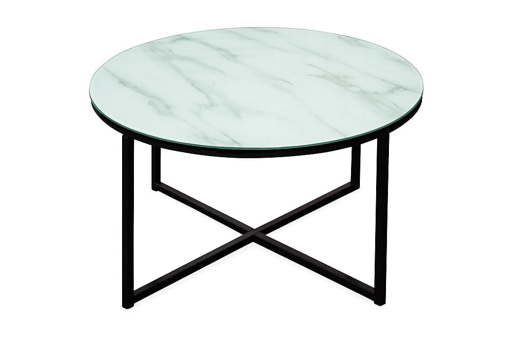 Sohvapöytä Raisa 80 cm Pyöreä - Marmori/Musta - Huonekalut - Pöydät - Sohvapöydät