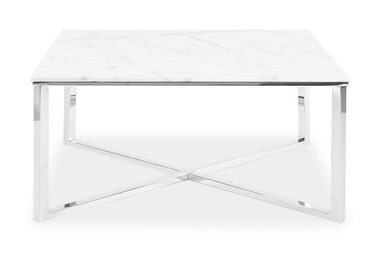 Sohvapöytä Rimini 70 cm Vaalea Marmori/Kromi - Stenexpo - Huonekalut - Pöydät - Sohvapöydät