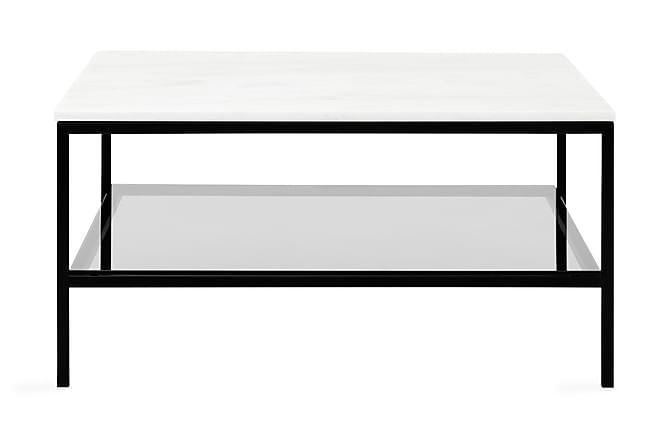 Sohvapöytä Riseine 90 cm - Valkoinen/Musta - Huonekalut - Pöydät - Sohvapöydät