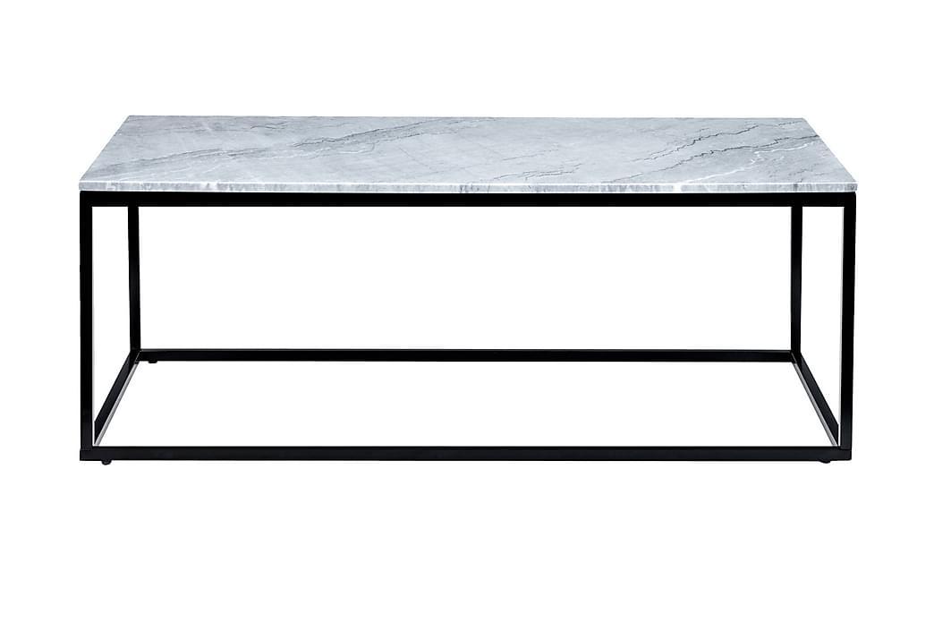 Sohvapöytä Titania 120 cm Marmori - Harmaa/Musta - Huonekalut - Pöydät - Sohvapöydät