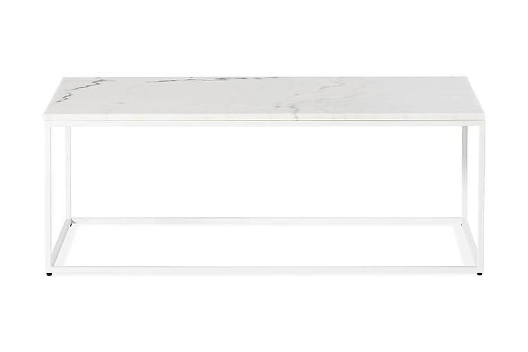 Sohvapöytä Titania 120 cm Marmori - Valkoinen - Huonekalut - Pöydät - Sohvapöydät