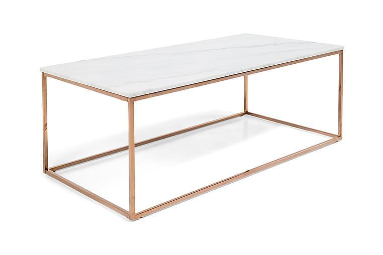 Sohvapöytä Titania 120 cm Marmori - Valkoinen/Kupari - Huonekalut - Pöydät - Sohvapöydät