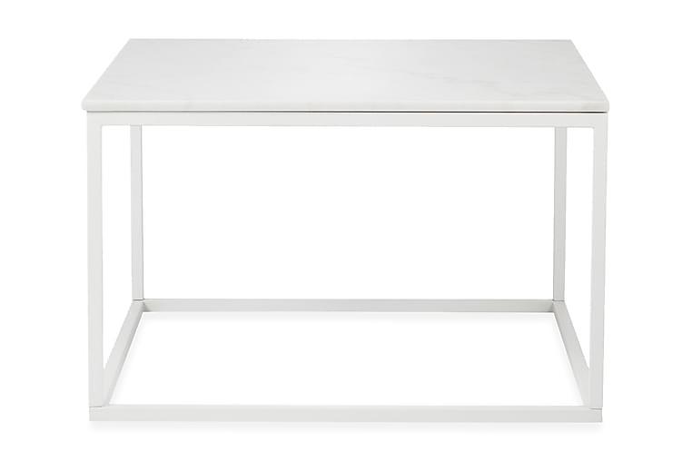 Sohvapöytä Titania 70 cm Marmori - Valkoinen/Valkoinen - Huonekalut - Pöydät - Sohvapöydät