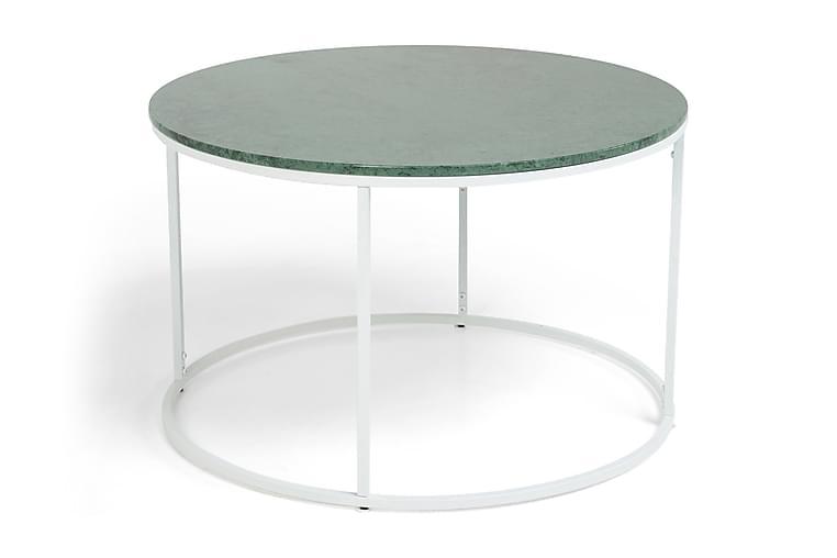 Sohvapöytä Titania 80 cm Marmori - Vihreä/Valkoinen - Huonekalut - Pöydät - Sohvapöydät