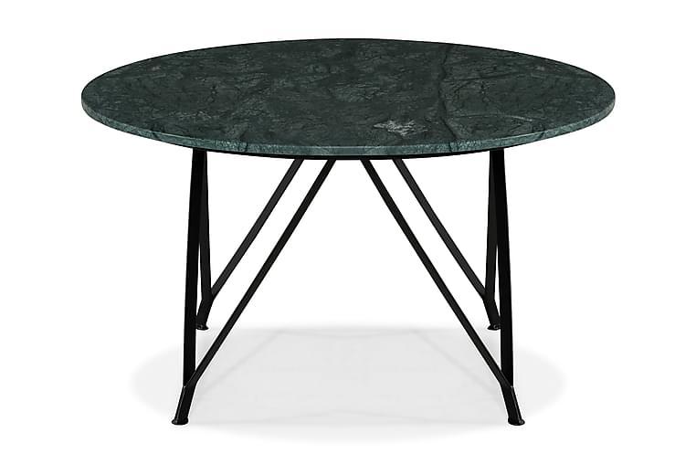 Sohvapöytä Titania 80 cm Pyöreä Marmori - Vihreä/Musta - Huonekalut - Pöydät - Sohvapöydät