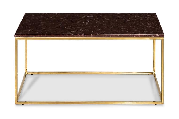 Sohvapöytä Titania 90 cm Marmori - Punainen/Messinki - Huonekalut - Pöydät - Sohvapöydät