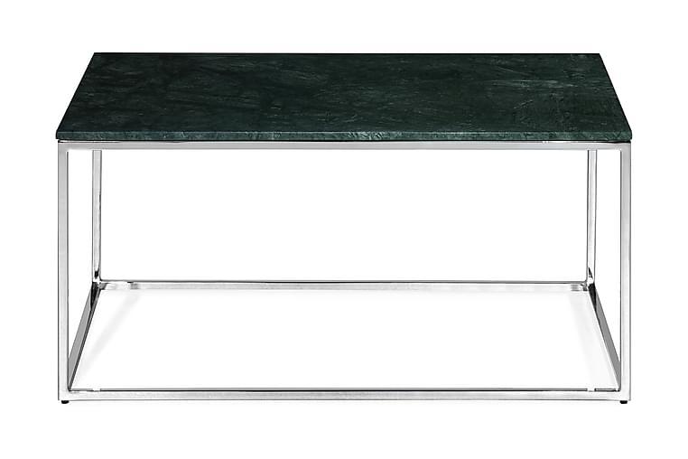 Sohvapöytä Titania 90 cm Marmori - Vihreä/Kromi - Huonekalut - Pöydät - Sohvapöydät