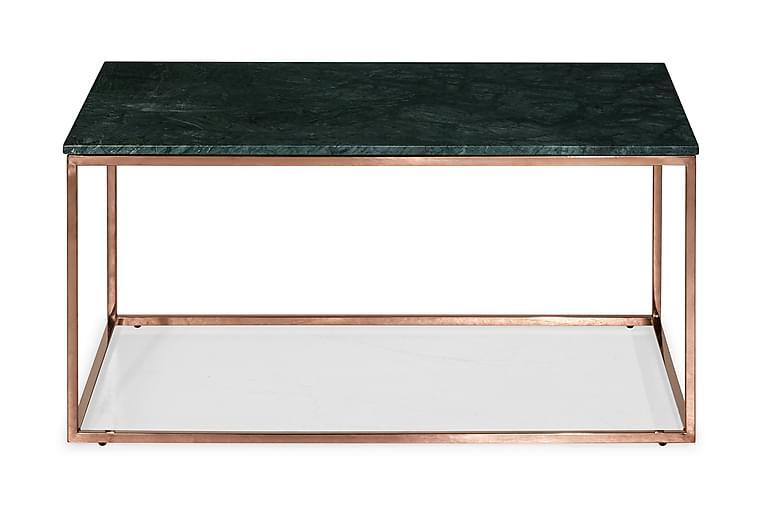 Sohvapöytä Titania 90 cm Marmori - Vihreä/Kupari - Huonekalut - Pöydät - Sohvapöydät