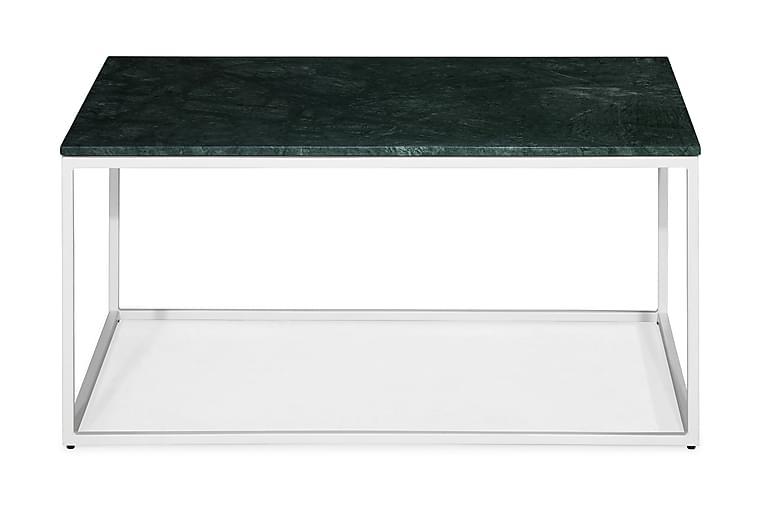 Sohvapöytä Titania 90 cm Marmori - Vihreä/Valkoinen - Huonekalut - Pöydät - Sohvapöydät