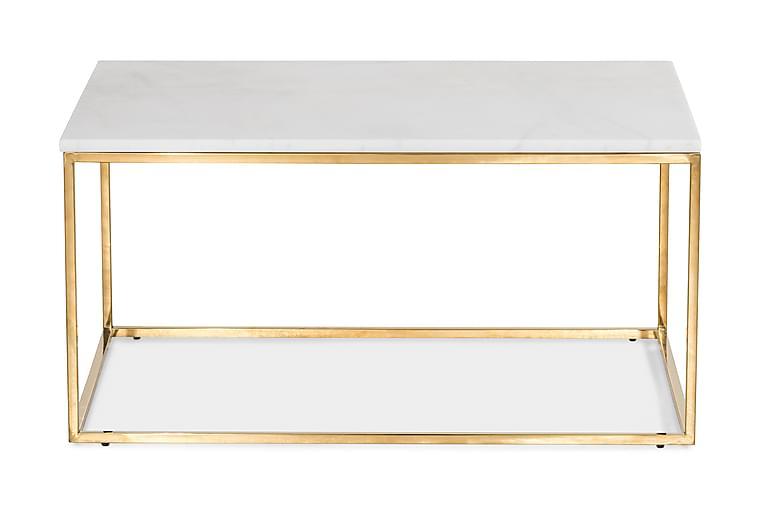 Sohvapöytä Titania 90 cm - Valkoinen/Messinki - Huonekalut - Pöydät - Sohvapöydät