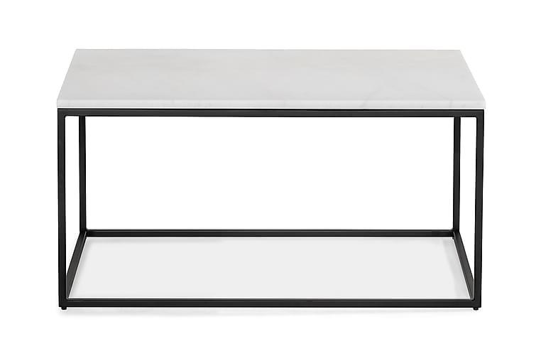 Sohvapöytä Titania 90 cm - Valkoinen/Musta - Huonekalut - Pöydät - Sohvapöydät
