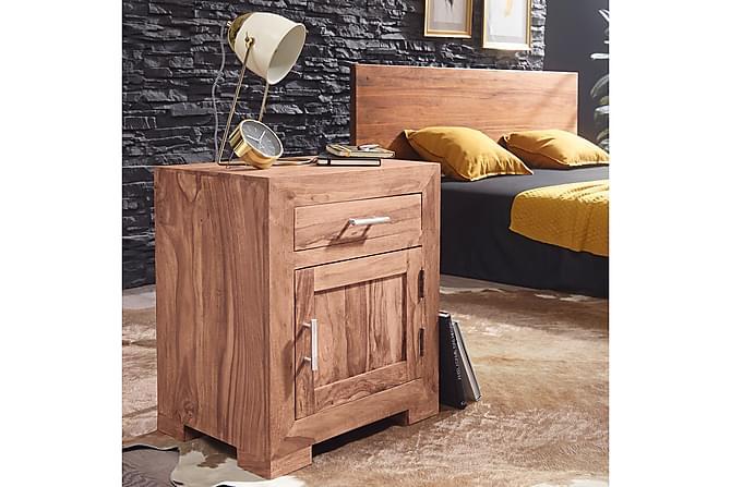 Yöpöytä Priyanshu 50x40 cm - Puu/Luonnonväri - Huonekalut - Pöydät - Marmoripöydät