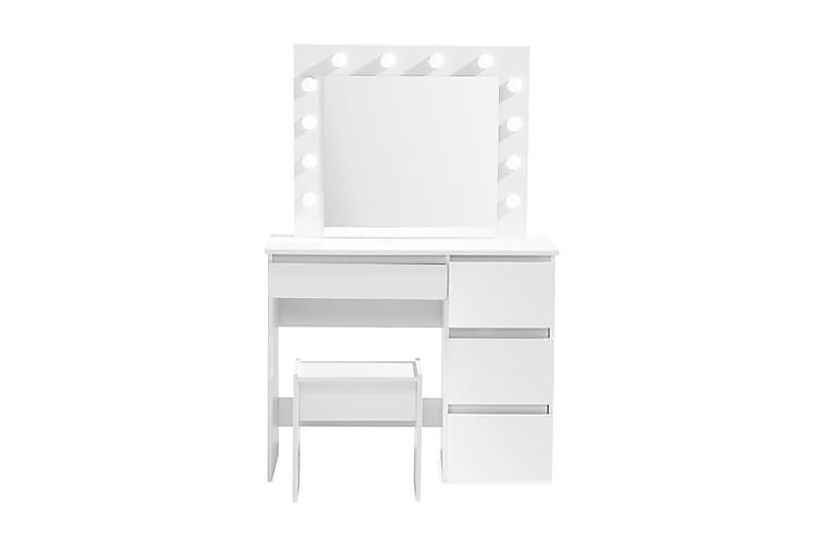 Meikkipöytä Lyr 94 cm LED-valaistus - Valkoinen - Huonekalut - Pöydät - Meikki- & kampauspöydät