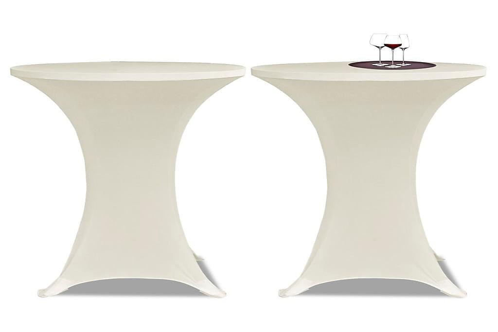 Seisovan Pöydän Päällyste Ø 70cm Kermanvärinen Stretch 2kpl - Kerma - Huonekalut - Pöydät - Pöydänjalat & tarvikkeet